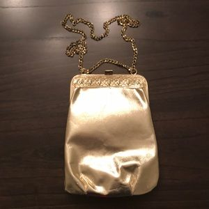 vInTaGe Handbag Gold Metallic